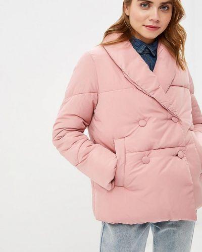 Утепленная куртка весенняя розовая Lost Ink.