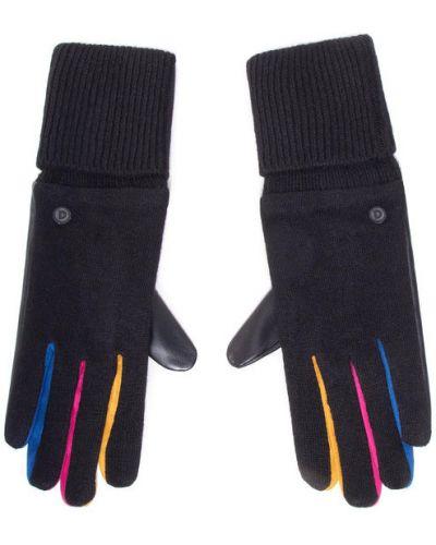 Czarne rękawiczki Desigual