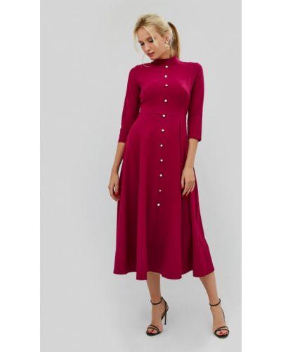 Коктейльное платье осеннее красный Cardo