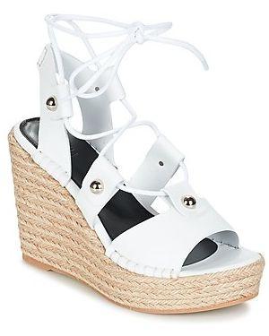 Białe sandały Sonia Rykiel