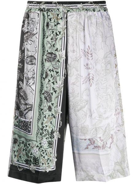 Zielony szorty z kieszeniami w połowie kolana niejednolita całość Givenchy