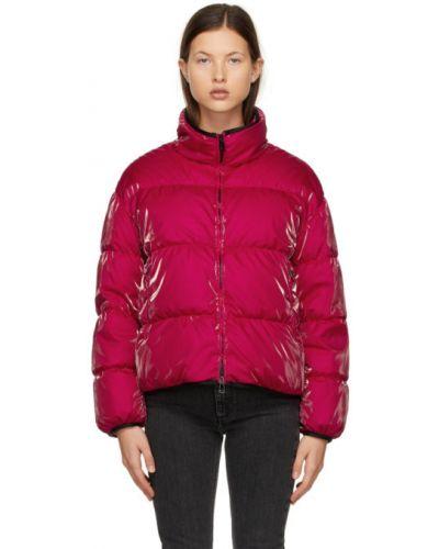Czarny pikowana długa kurtka z gęsim puchem Moncler