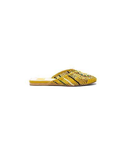 Желтые шлепанцы Dolce Vita
