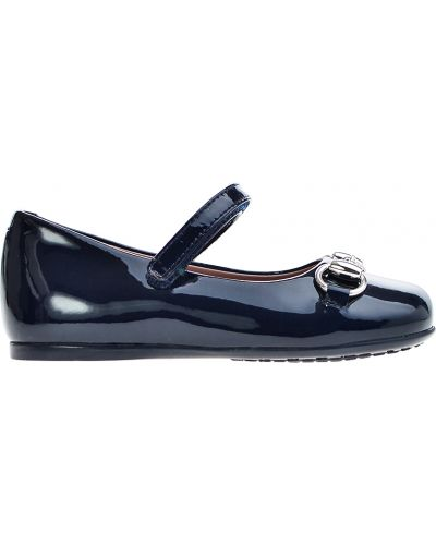 Туфли лаковые синие Gucci