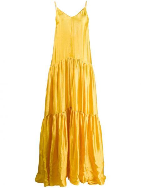 Платье макси с открытой спиной на бретелях Forte Forte