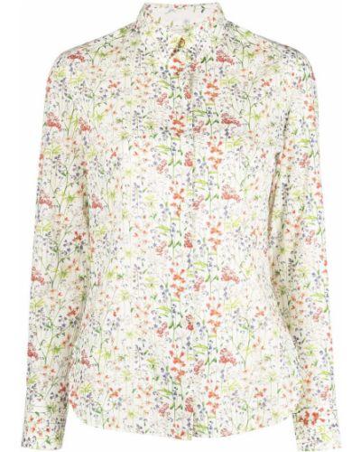 Хлопковая белая классическая рубашка с воротником Paul Smith