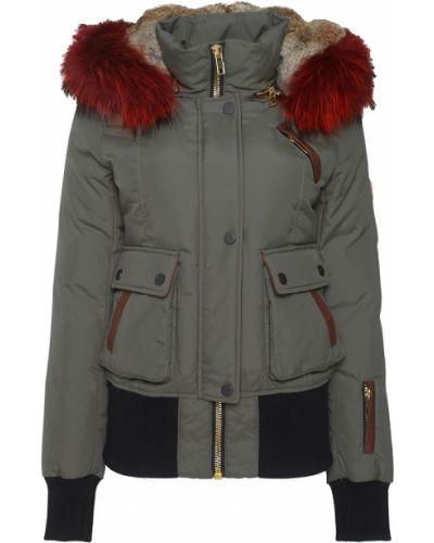 Черная кожаная куртка с мехом Nicole Benisti