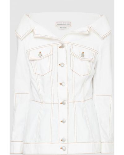 Белая джинсовая куртка Alexander Mcqueen