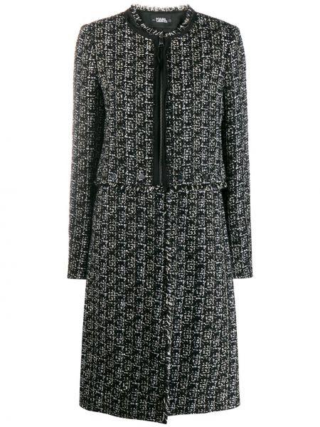 Długi płaszcz wełniany wyposażone Karl Lagerfeld