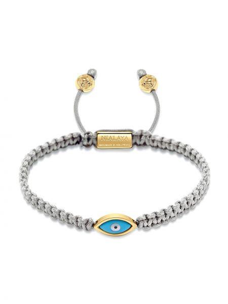 Серебряный нейлоновый золотой браслет позолоченный свободного кроя Nialaya Jewelry