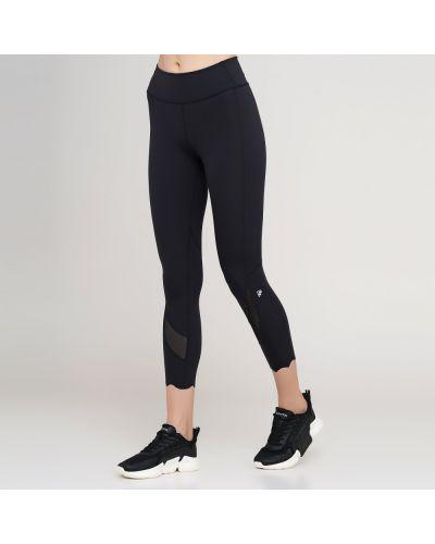 Облегающие черные спортивные брюки с поясом Anta