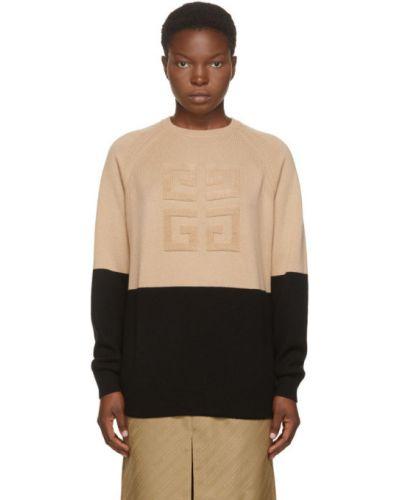 Z rękawami czarny kaszmir sweter z kołnierzem Givenchy