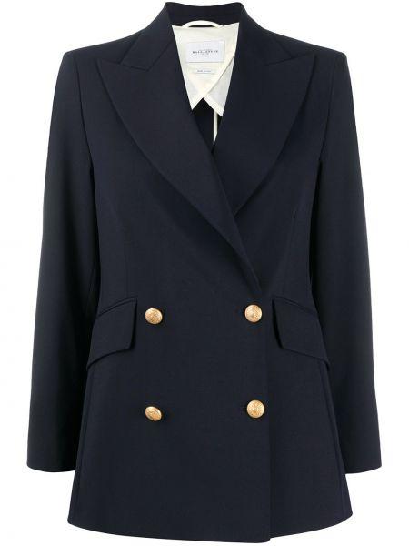 С рукавами синяя куртка двубортная Ballantyne