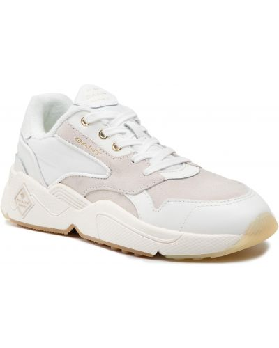 Białe półbuty zamszowe Gant