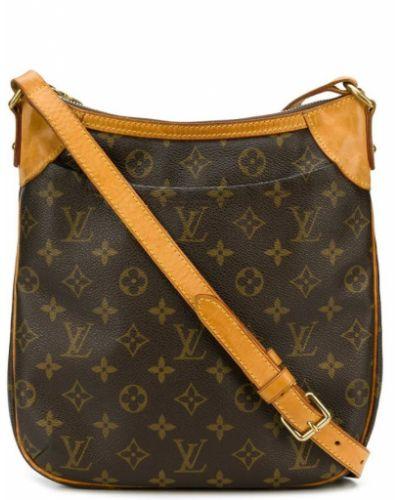 Коричневая сумка через плечо с перьями Louis Vuitton Pre-owned