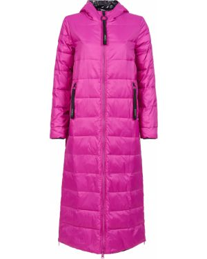 Прямая розовая куртка двусторонняя Pinko