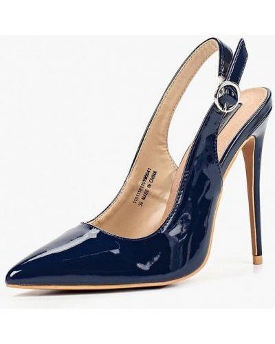 Кожаные туфли с открытой пяткой на каблуке Lost Ink.