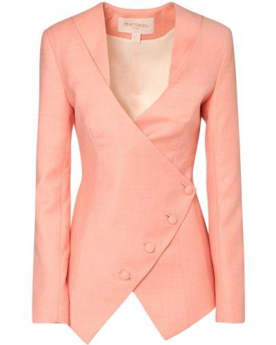 Шерстяной розовый пиджак с подкладкой Matériel