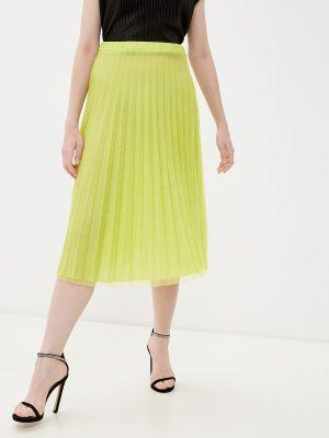 Зеленая плиссированная юбка Rinascimento