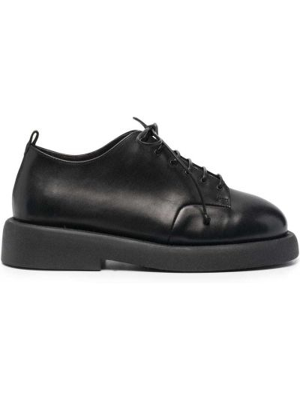 Кожаные черные оксфорды на шнуровке Marsèll