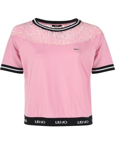 Футболка из вискозы розовый Liu Jo