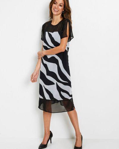 Шифоновое черное платье Bonprix