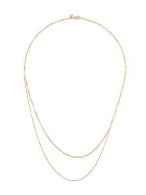Złoty naszyjnik pozłacany kaskadowy Bar Jewellery