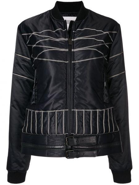 Черная спортивная куртка на молнии с воротником Chanel Pre-owned