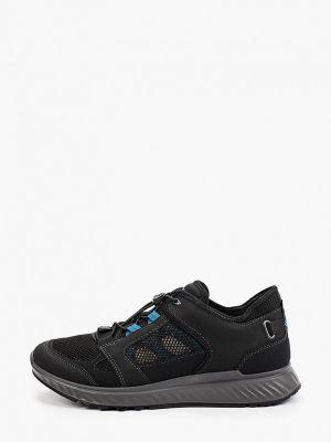 Черные текстильные кроссовки Ecco
