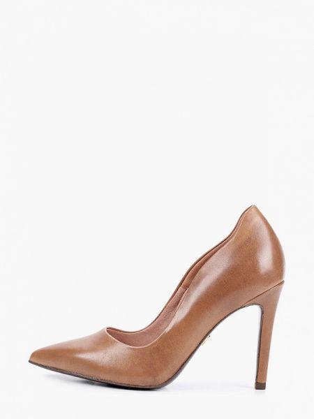 Замшевые туфли лодочки коричневый Heart & Sole By Tamaris