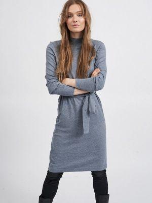 Вязаное платье - серое Vila