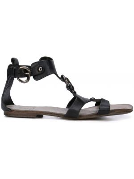 Черные сандалии с пряжкой Silvano Sassetti