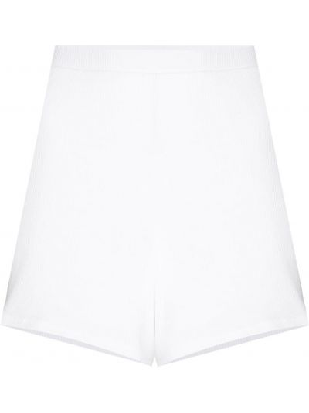 Кожаные белые короткие шорты эластичные с короткими рукавами Skin