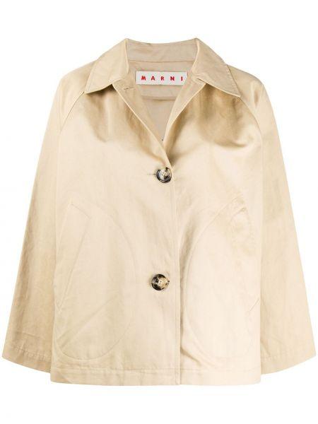 Хлопковая куртка с воротником на пуговицах Marni