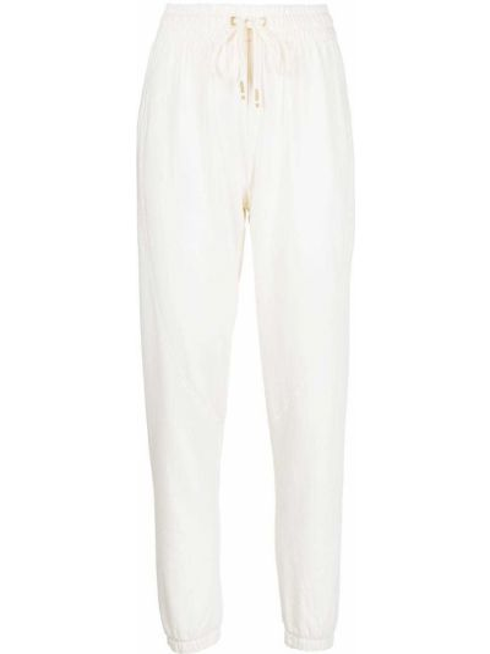Укороченные белые спортивные брюки на шнуровке Alala
