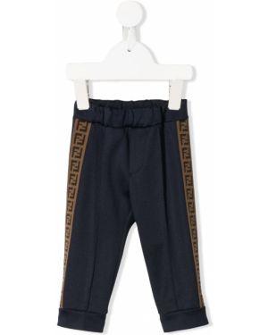 Sportowe spodnie z paskami pofałdowany Fendi Kids