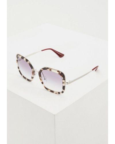 Солнцезащитные очки коричневый итальянский Prada