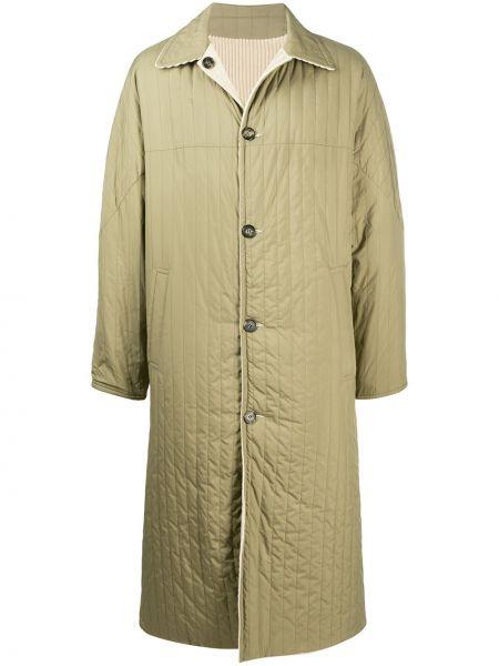 Стеганое пальто классическое с воротником на пуговицах Kenzo