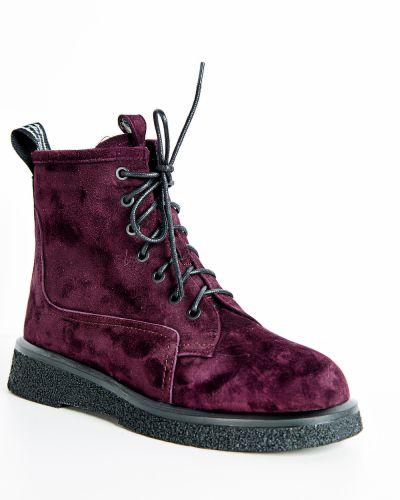 Брендовые красные кожаные ботинки Sidestep