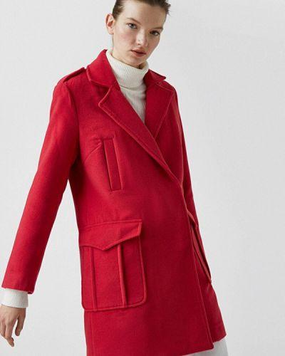 Красное демисезонное пальто Koton