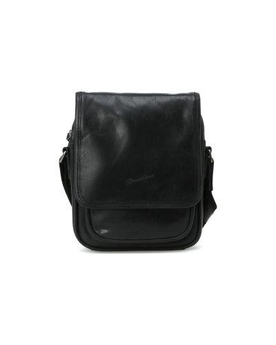 Кожаная сумка текстильная на молнии Gerard Henon