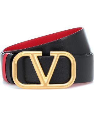 Золотистый черный ремень металлический с поясом Valentino Garavani