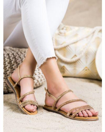 Sandały skórzane eleganckie Fama