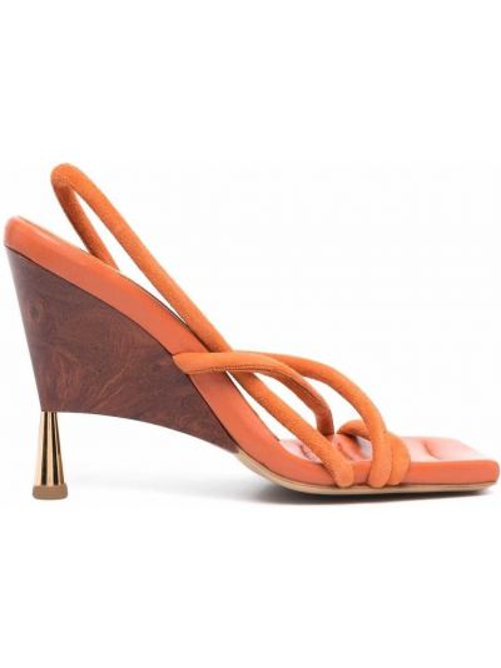 Туфли на каблуке - оранжевые Gia Couture