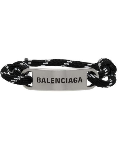 Biała bransoletka srebrna Balenciaga