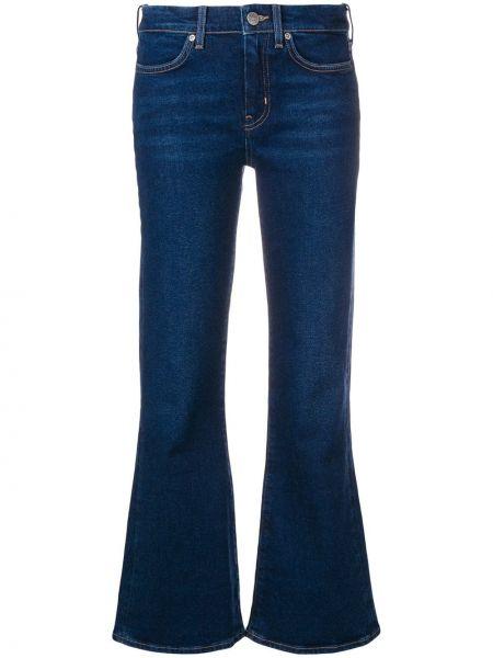 Расклешенные укороченные джинсы в стиле бохо Mih Jeans