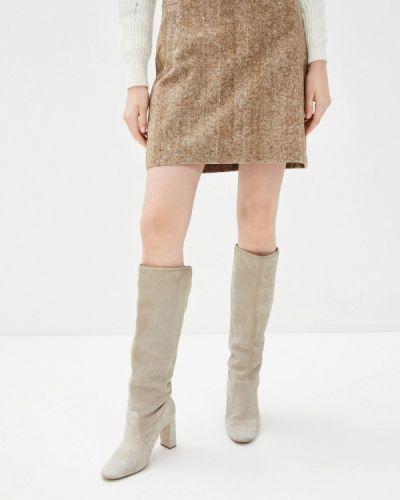 Коричневая прямая юбка карандаш Zabaione