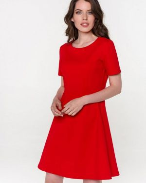 Платье прямое красный Pavesa