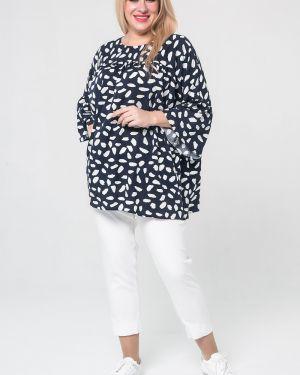 Хлопковая блузка с кокеткой с оборками с завязками Luxury