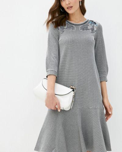 Повседневное серое платье Alexander Bogdanov